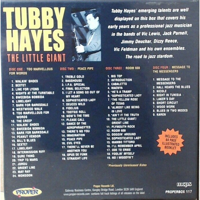 Tubby Hayes Clark Terry, James Moody Roland Kirk The Little Giant