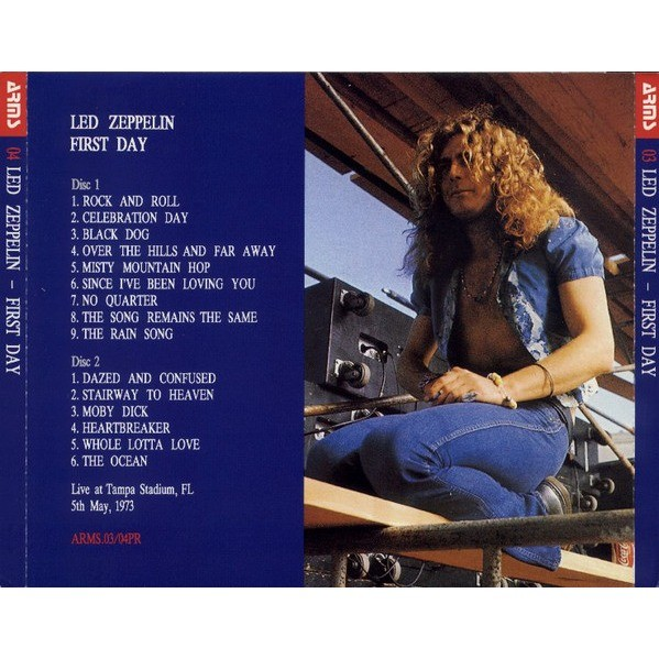 Led Zeppelin First Day - Live at Tampa Stadium, FL, 5th May, 1973.