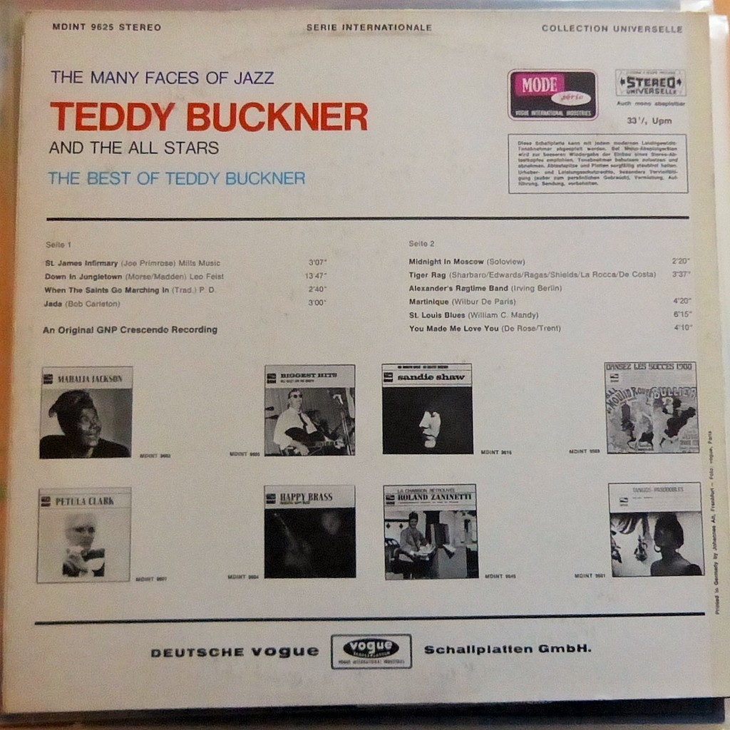 TEDDY BUCKNER THE BEST OF