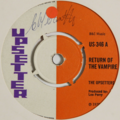 THE UPSETTERS - Return Of The Vampire/Bigger Joke - 45T (SP 2 titres)