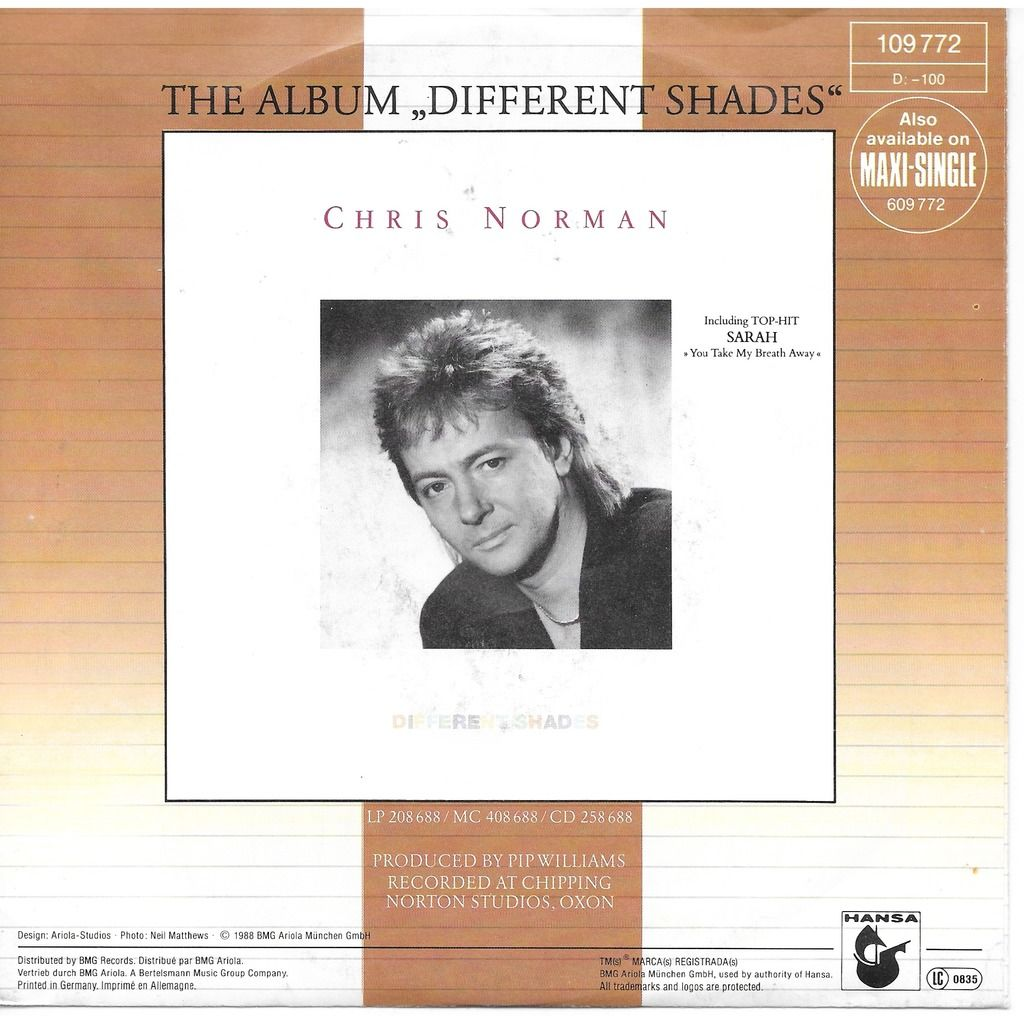 Chris Norman Ordinary heard - She said she was a lucky girl