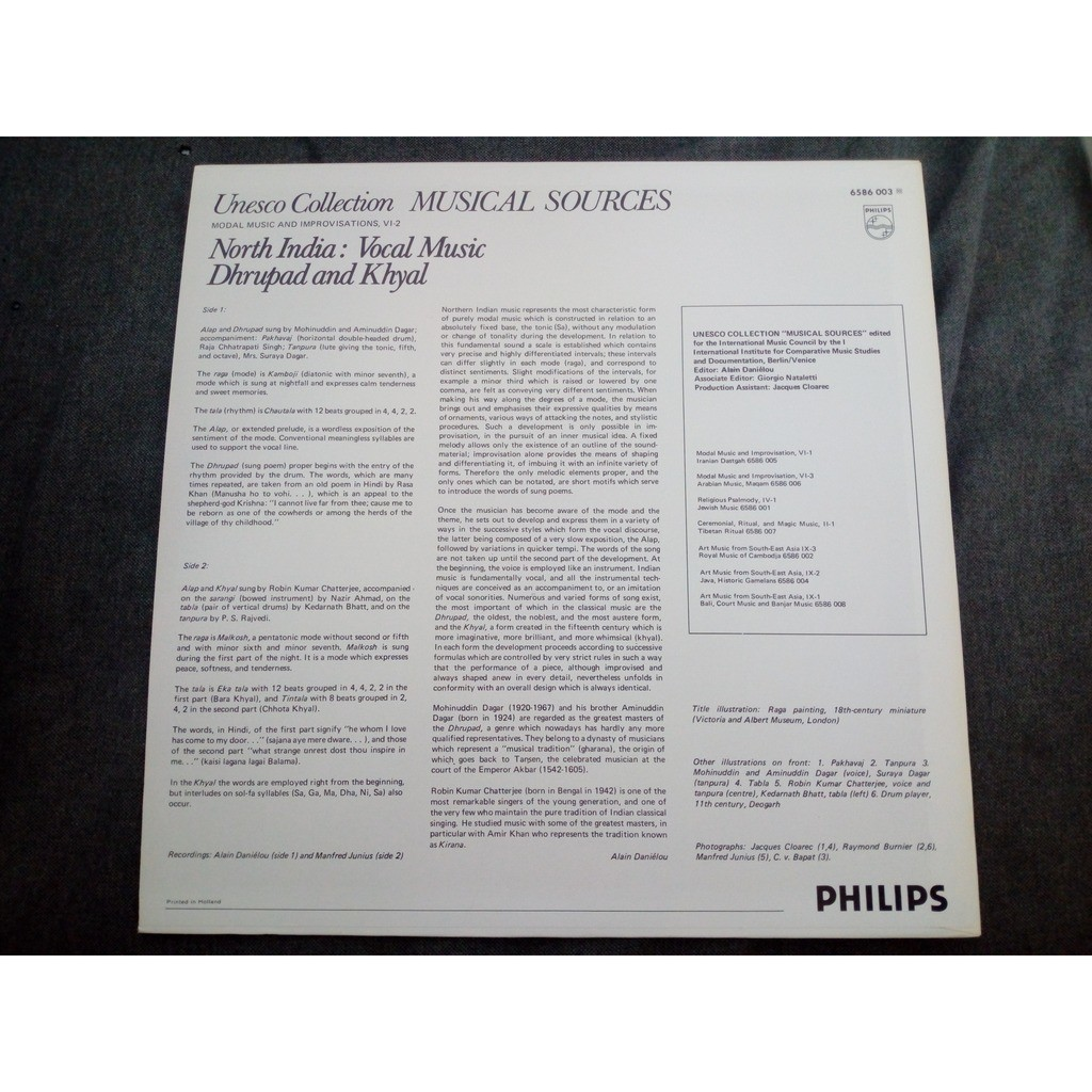 Various North India: Vocal Music - Dhrupad And Khyal
