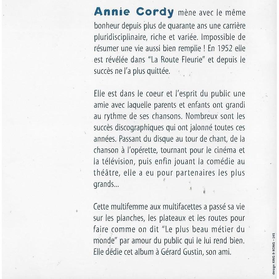 Les Plus Grands Succès Dannie Cordy De Annie Cordy Cd Con Minkocitron