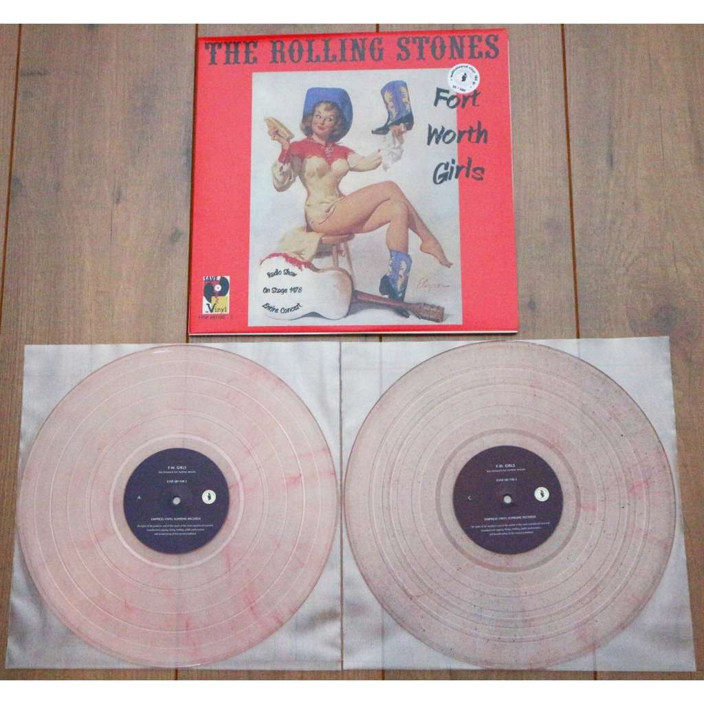 The Rolling Stones Fort Worth Girls / Limited & numbered 2lp, pink marble vinyl, 500 copies only