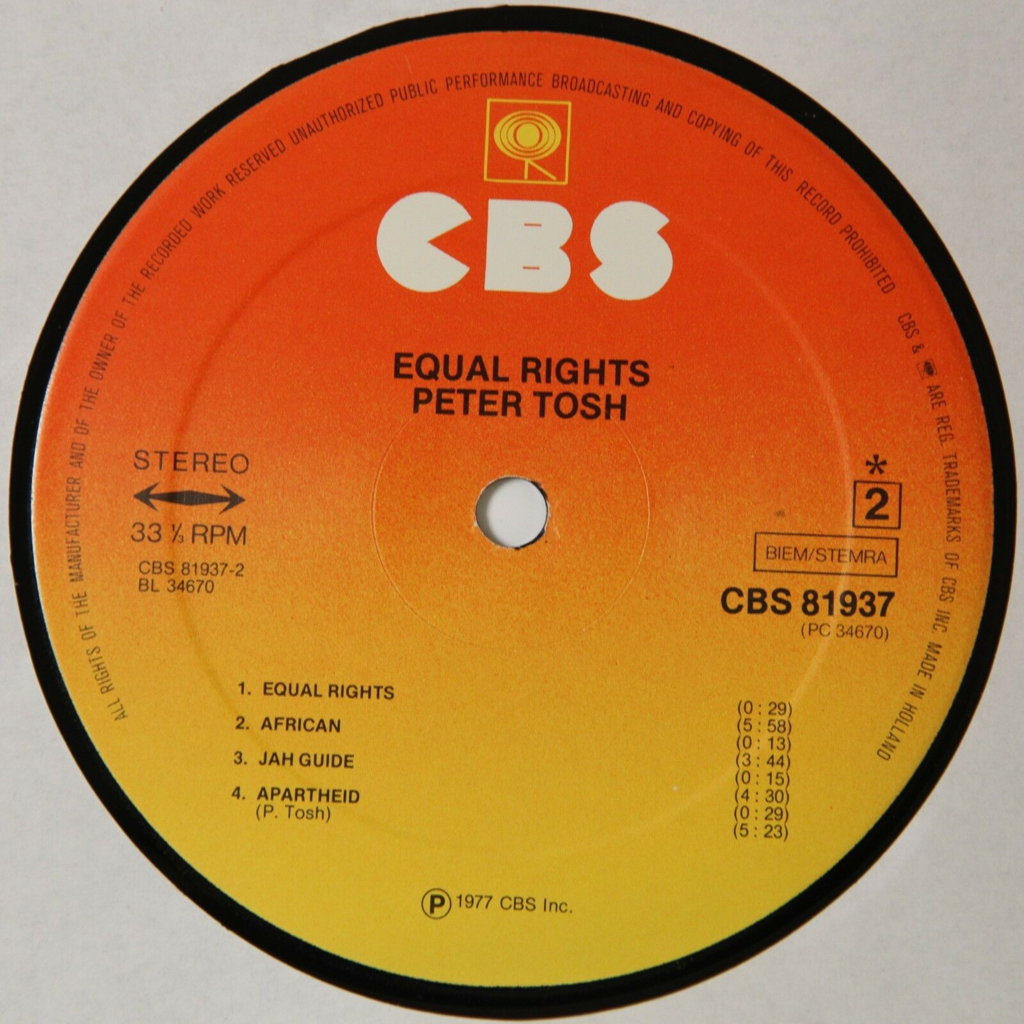 Peter Tosh Equal Rights (Reggae)
