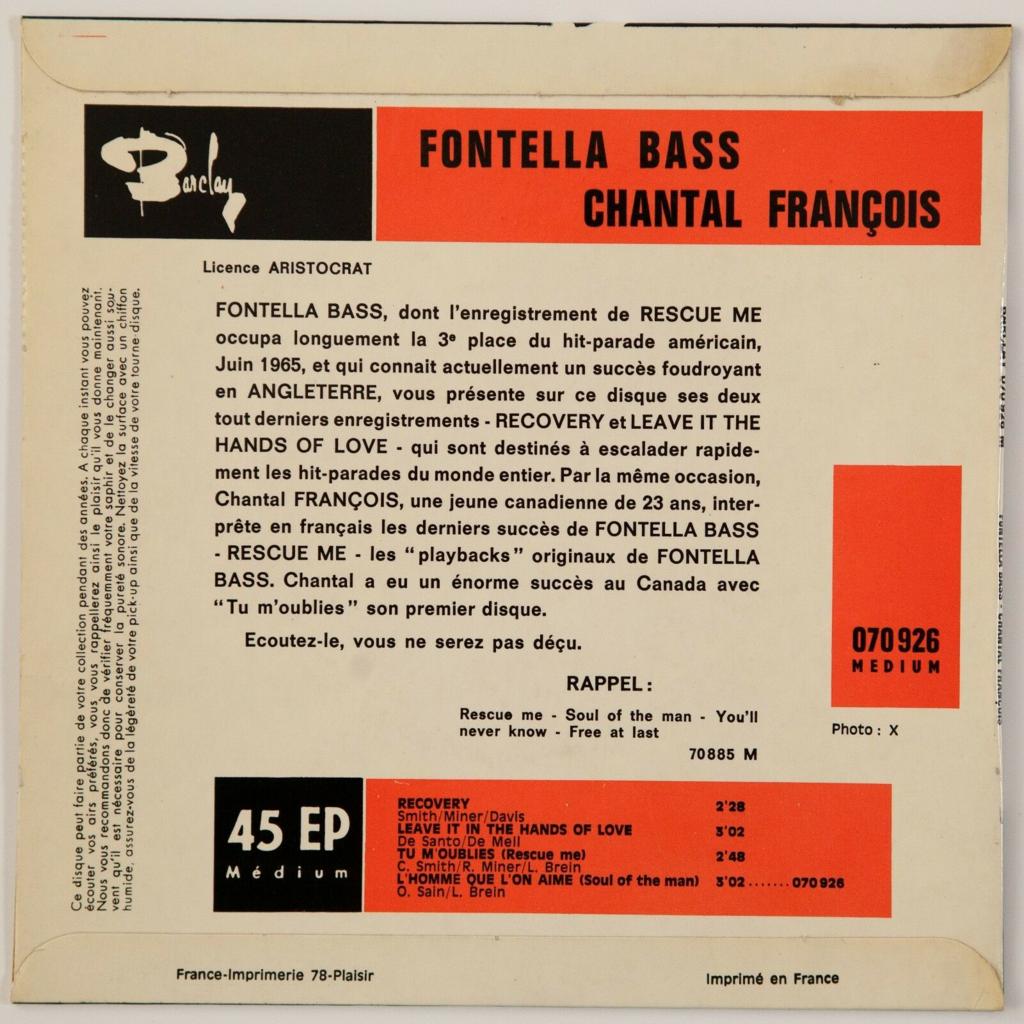 Chantal Francois / Fontella Bass Tu M'oublies +3 (Soul/Popcorn)