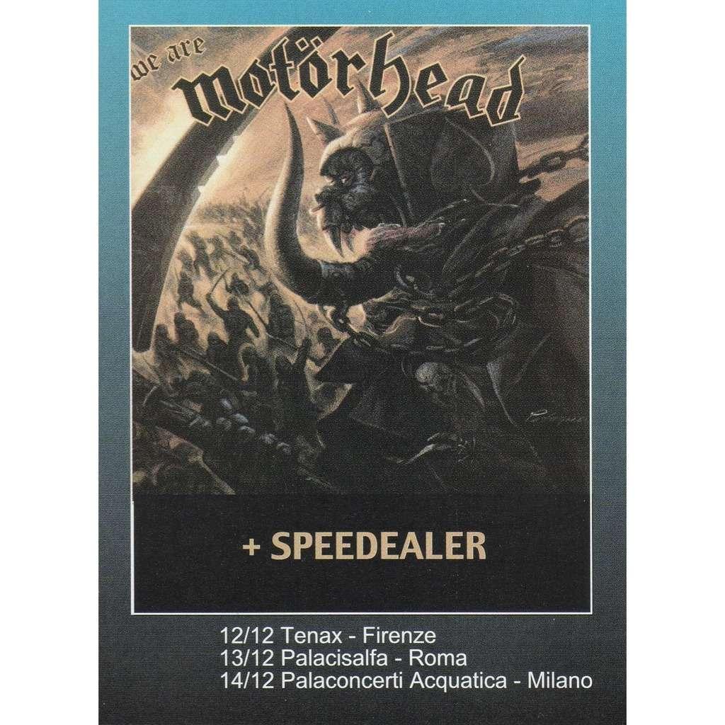 Motorhead Italian Tour Dec. 2000 (Italian 2000 promo type advert 'Tour Dates' flyer!!)
