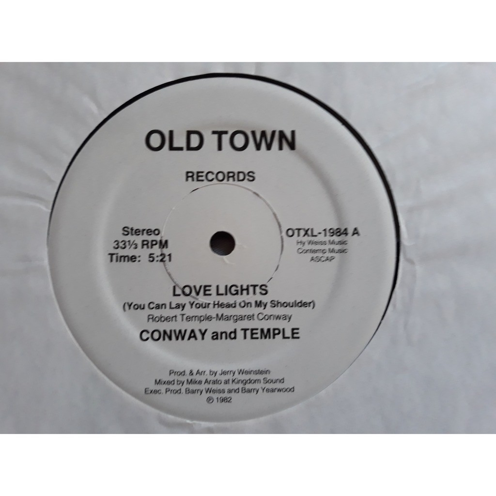 Conway And Temple* - Love Lights (You Can Lay Your Conway And Temple* - Love Lights (You Can Lay Your Head On My Shoulder) (12, Whi)