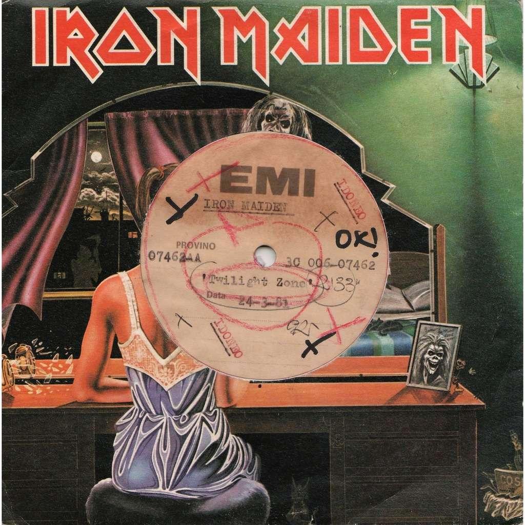 iron maiden Twilight Zone (Italian 1981 1-trk 1-sided w/l TEST PRESS 7single Metal Acetate die-cut test ps)
