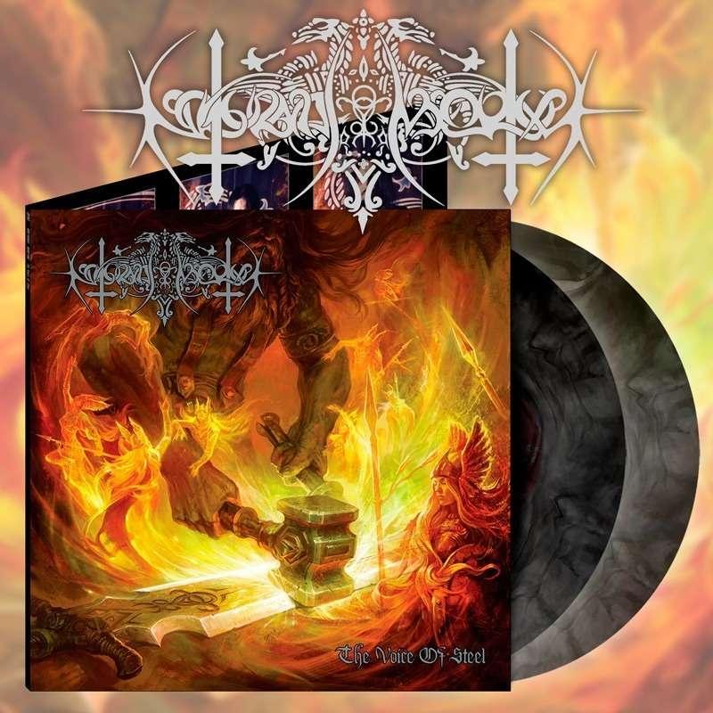NOKTURNAL MORTUM The Voice of Steel. Black Galaxy Vinyl