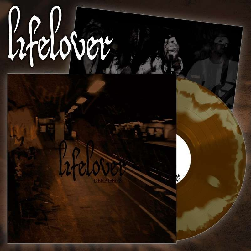 LIFELOVER Dekadens. Gold & Brown Swirl