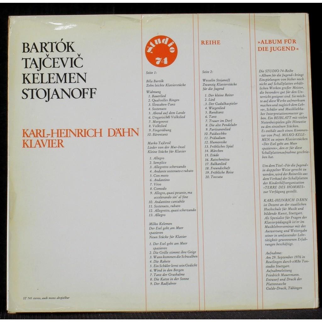 Karl Heinrich Dähn Bartok Tajcevic Kelemen Stojanoff Lp Vgnm Cv Ex By Karl Heinrich Dähn Bartok Tajcevic Kelemen Lp With Vogelweith