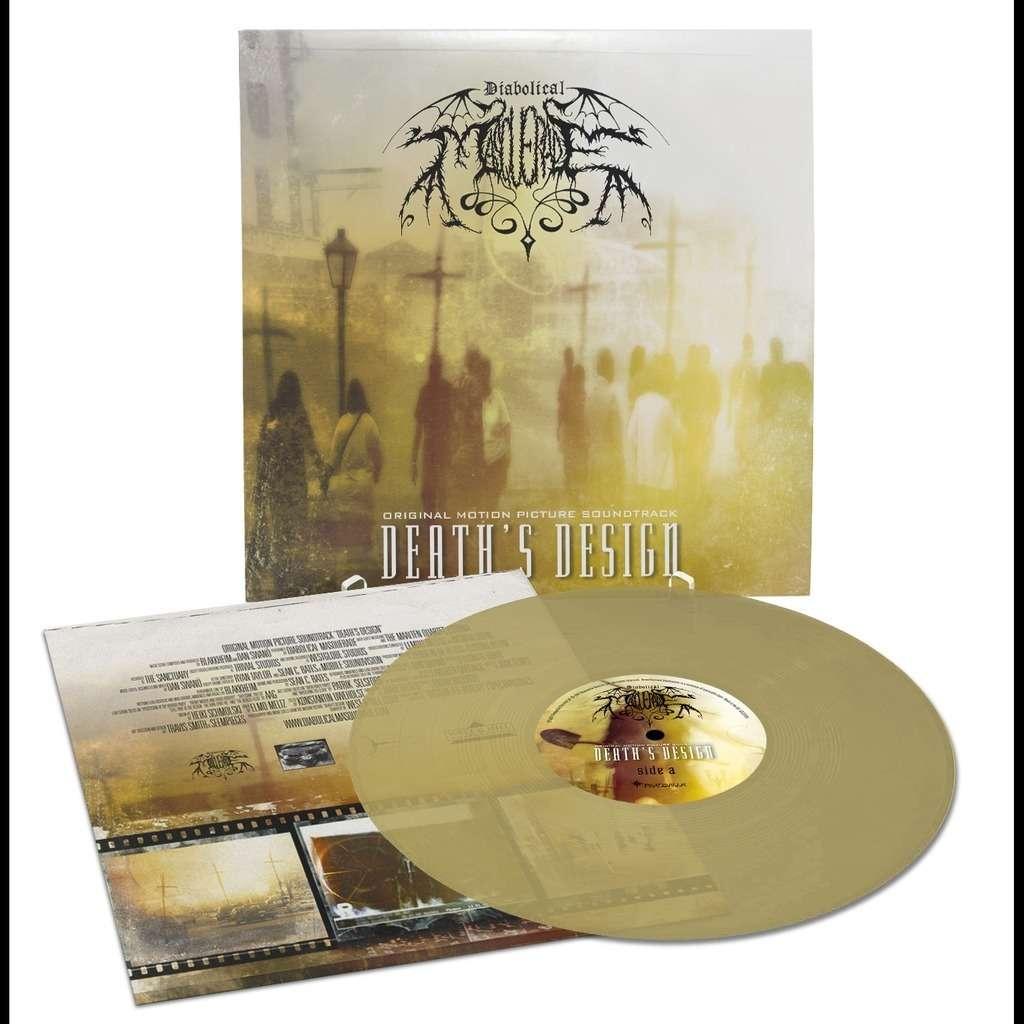 DIABOLICAL MASQUERADE Death's Design. Gold Clear Vinyl