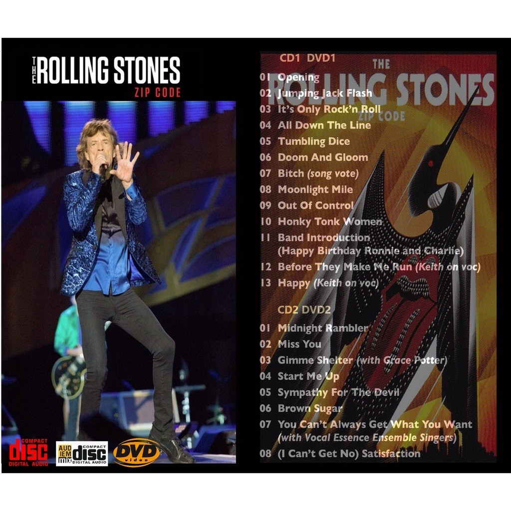 Rolling Stones (SEALED) Rolling Stones ZIP Tour Minneapolis 03 Jun2015 Full Show 2CD+2DVD MULTICAMERA