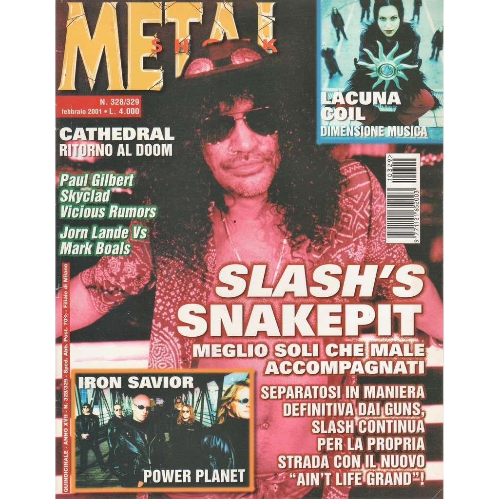 guns n' roses / Slash's Snakepit Metal Shock (N.328/329 Feb. 2001) (Italian 2001 Slash front cover magazine!!)