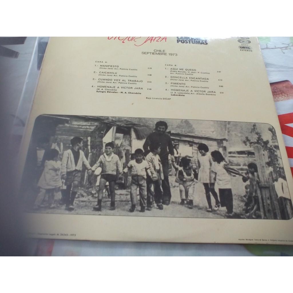 JARA Victor Canciones Postumas, Chile Septembre 1973
