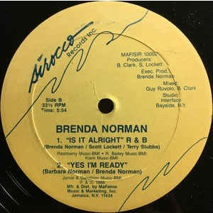 Brenda Norman - Is It Alright / Yes I'm Ready Brenda Norman - Is It Alright / Yes I'm Ready
