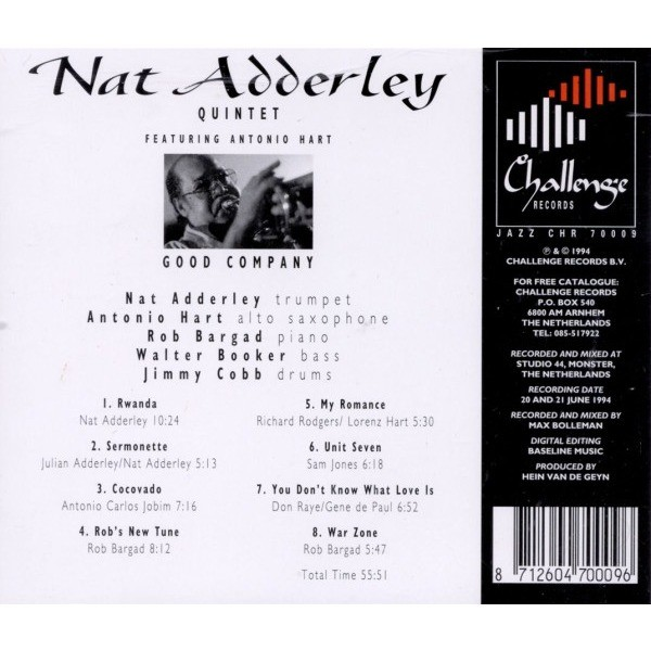 Nat Adderley Quintet featuring Antonio Hart Good Company