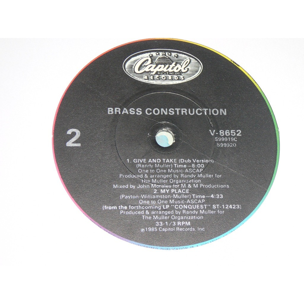 BRASS CONSTRUCTION give and take