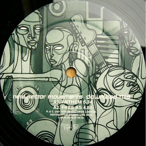 NEW SECTOR MOVEMENTS Download this (rare Promo copy - 3 LP Limited edition - Gatefold sleeve - 2001)