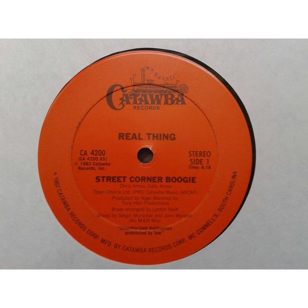 Real Thing* - Street Corner Boogie (12) Real Thing* - Street Corner Boogie (12)