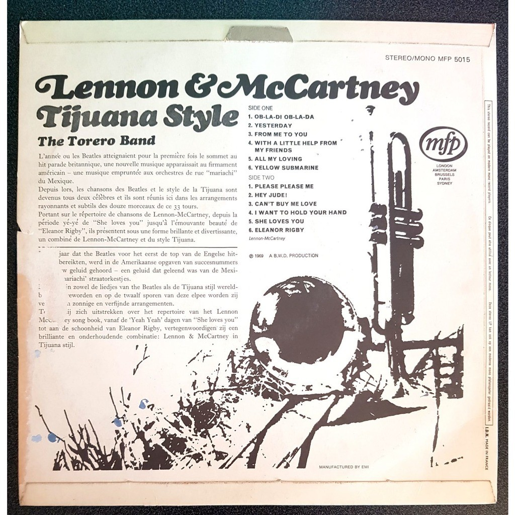 The Torero Band Lennon & McCartney Tijuana Style
