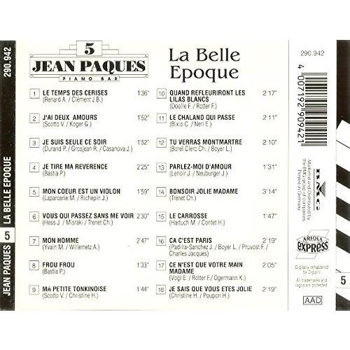 Jean Paques Jean Paques - Piano Bar 5 - la Belle Epoque