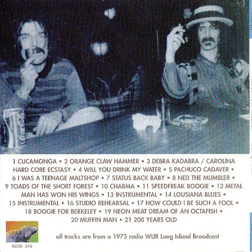 Frank Zappa And Captain Beefheart An Evening With...