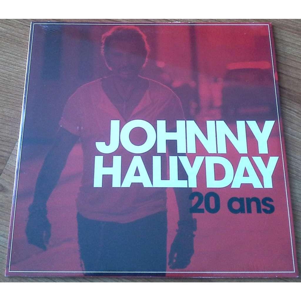 Johnny HALLYDAY 20 Ans 25cm Vinyle Rouge