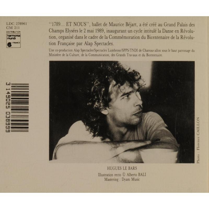 hugues le bars 1789 et nous - Musique de ballet de Maurice Béjart