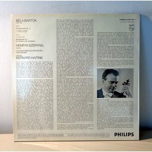 HENRYK SZERYNG & BERNARD HAITINK BARTOK Violonkonzert n°2 & Rhapsodie n°1
