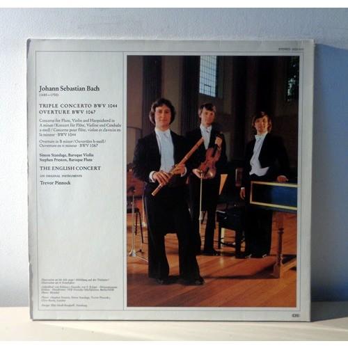 TREVOR PINNOCK & SIMON STANDAGE & STEPHEN PRESTON JS BACH Triple concerto & Overture BWV 1067