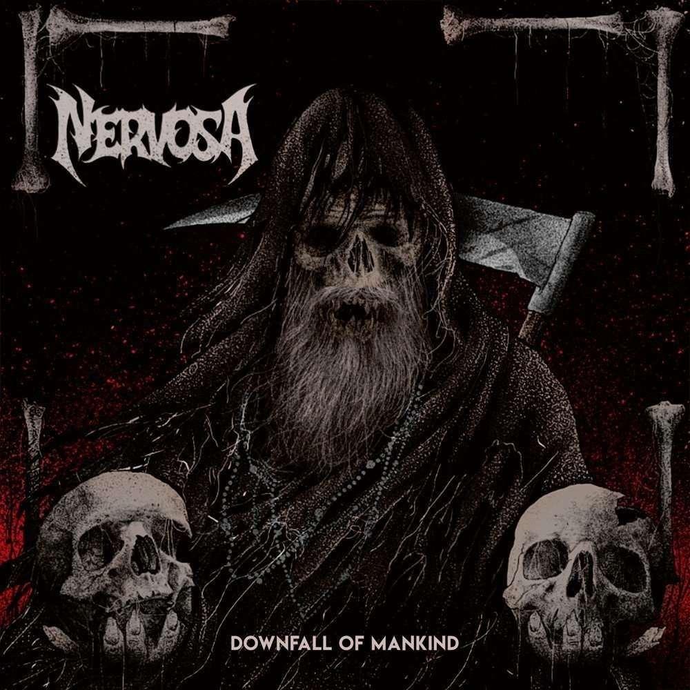 NERVOSA Downfall of Mankind. Black Vinyl