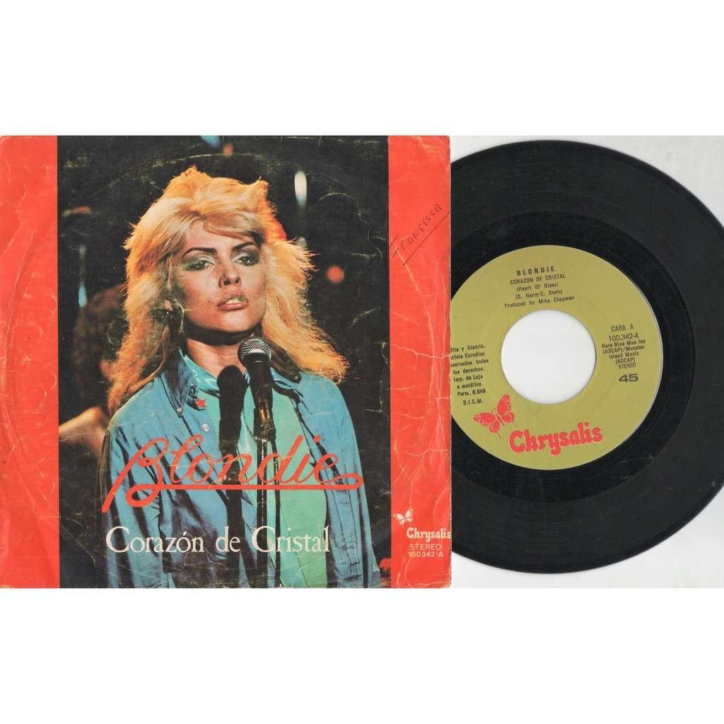 Blondie Corazon De Cristal (Spanish 1979 original 2-trk 7single unique ps)
