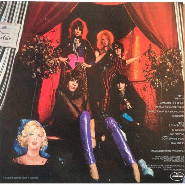 New York Dolls Too Much Too Soon (USA 2008 Ltd re 10-trk LP RED vinyl full ps)