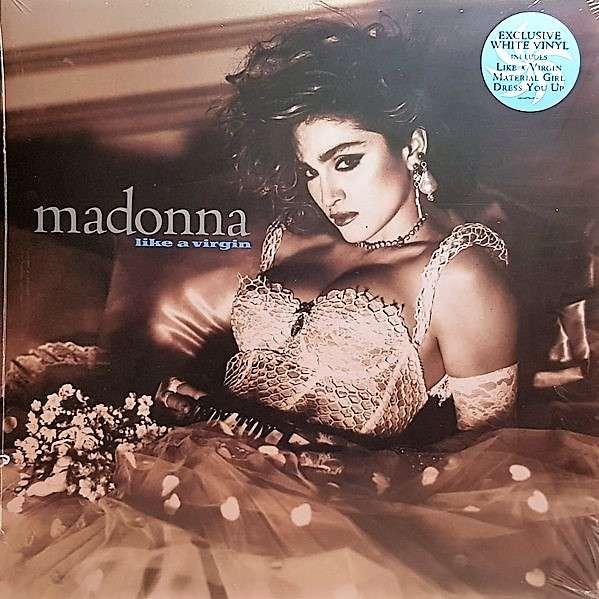 Madonna Like A Virgin (UK 2018 Ltd re 12000 copies 9-trk LP WHITE wax stickered ps+inner slv!)