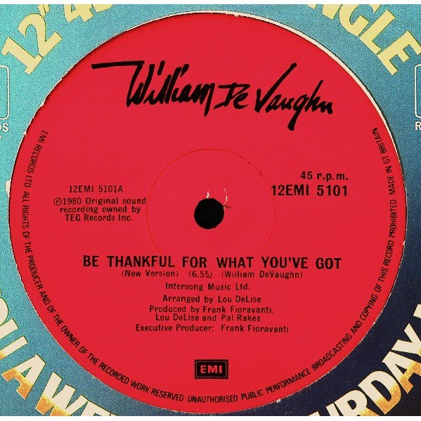 william de vaughn be thank full for what you ve got