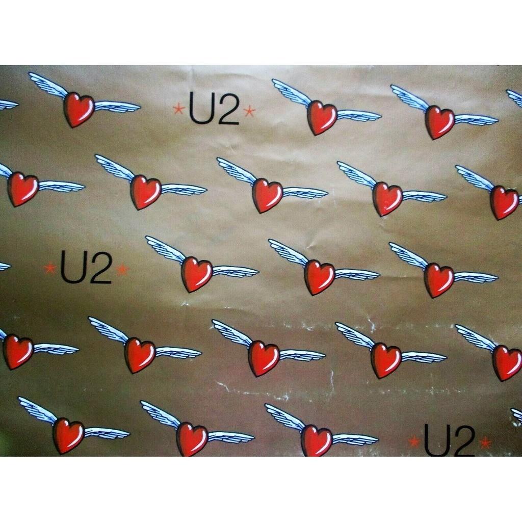 U2 Mofo (UK 1997 original 'single release' promo shop GOLD poster!!)