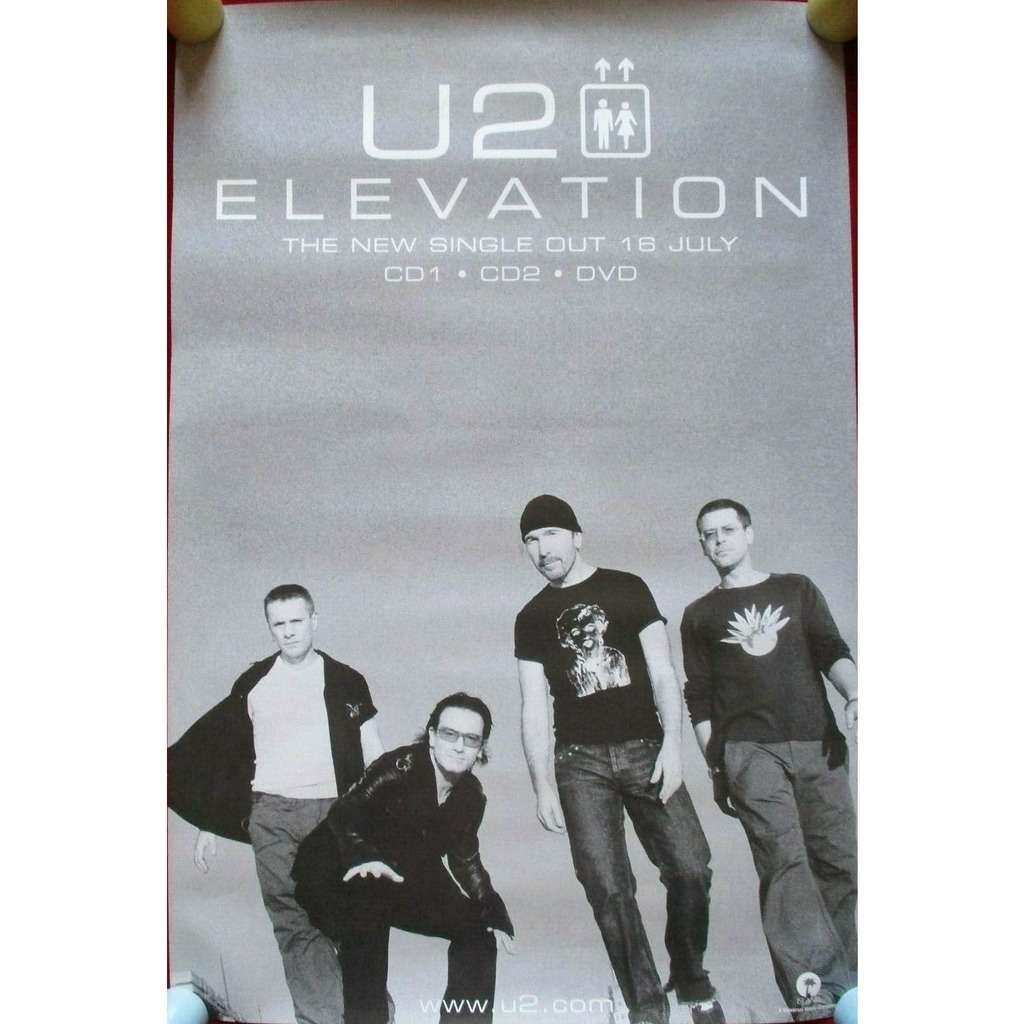 U2 Elevation / All That You Can't Leave Behind (UK 2000 Island original 'single' promo shop poster!!)