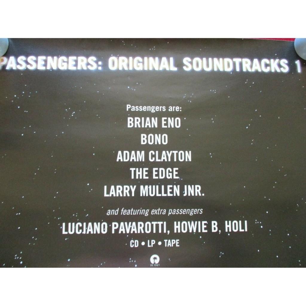U2 / Passengers Original Soundtracks 1 (UK 1995 original 'Island' promo 'album release' shop poster!!)