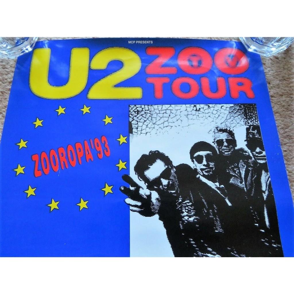 U2 Zooropa '93 (UK 1993 original 'Ticket Sales' promo shop Tour Concert poster!)