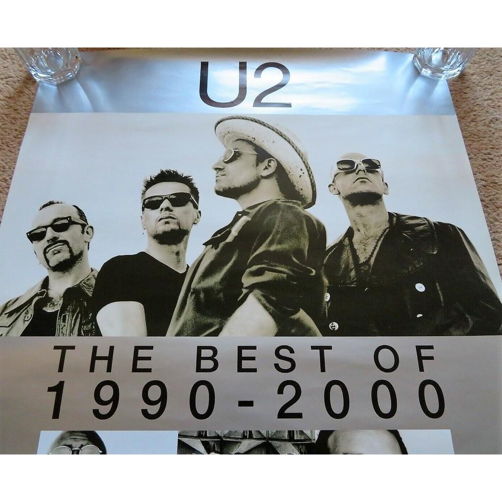 U2 The Best Of 1990-2000 (Japan 2002 original Island 'album release' promo shop poster!!)