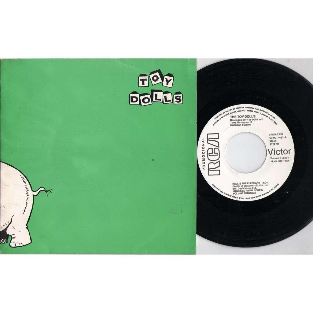 Toy Dolls Nellie The Elephants (Spanish 1984 original 2-trk w/label 7single promo unique ps)