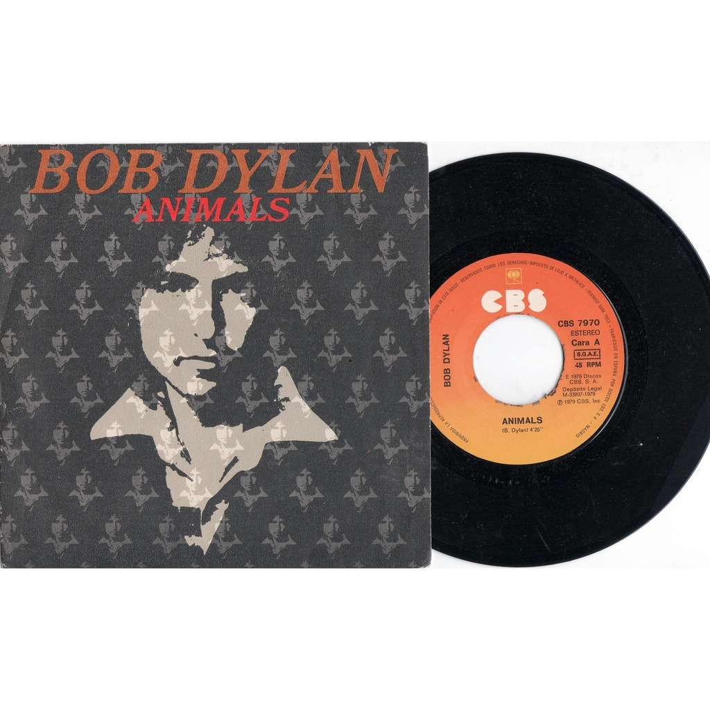 Bob Dylan Animals (Spanish 1979 original 2-trk 7single unique ps)