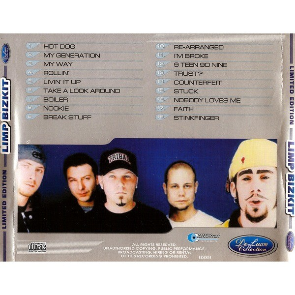 Limp Bizkit DeLuxe Collection (18 tracks Russia only compilation) CD (2003)