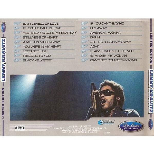Lenny Kravitz DeLuxe Collection (18 tracks Russia only compilation) CD (2003)