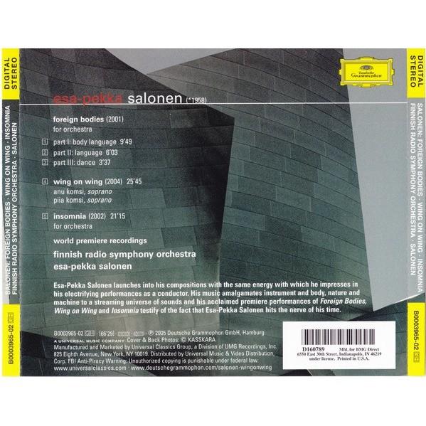 Salonen, Esa-Pekka Wing On Wing, Etc / Salonen, Komsi, Finnish Radio Symphony Orchestra, Esa-Pekka Salonen