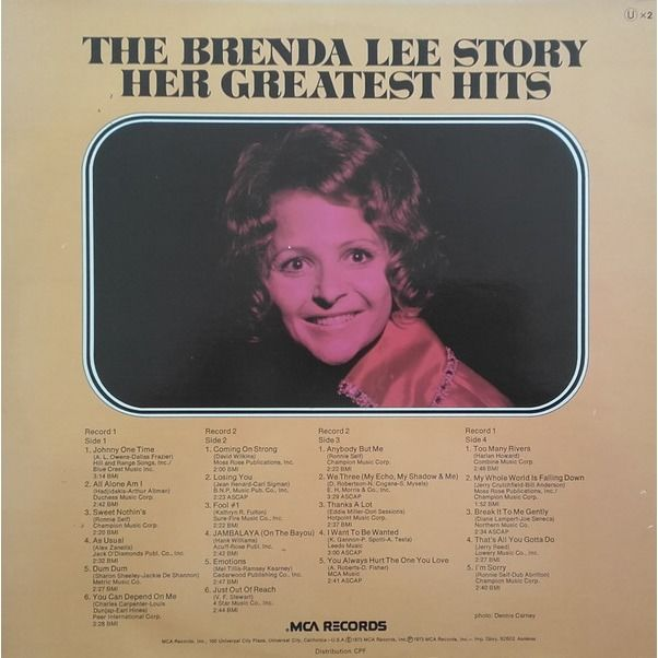 Brenda Lee The Brenda Lee Story Her Greatest Hits