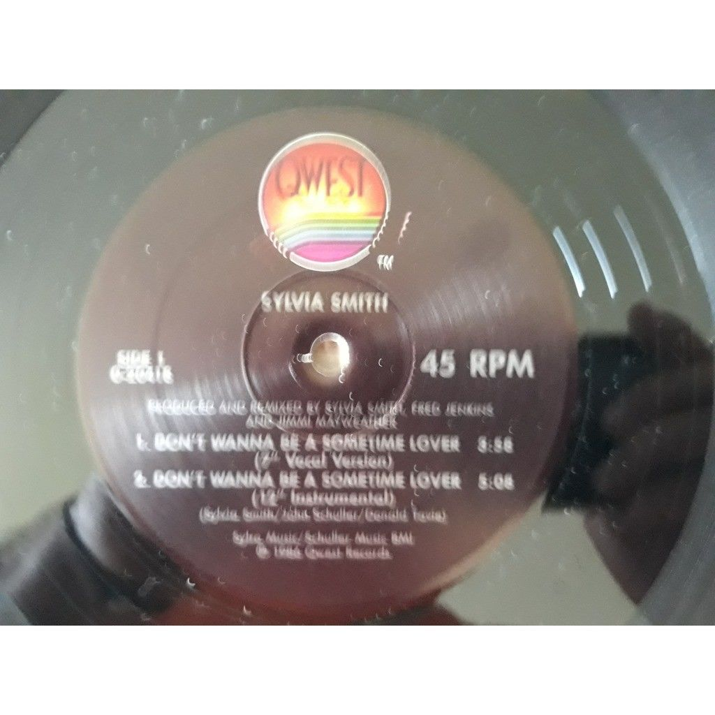 Sylvia Smith - Don't Wanna Be A Sometime Lover (12 Sylvia Smith - Don't Wanna Be A Sometime Lover (12, Maxi)