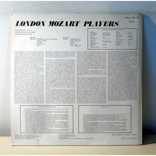 HARRY BLECH & LONDON MOZART PLAYERS HAYDN & MOZART Symphonies